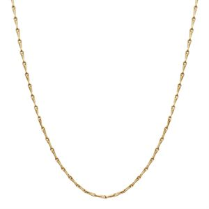 """Picture of Gold Elongated Cable Chain - 28"""""""