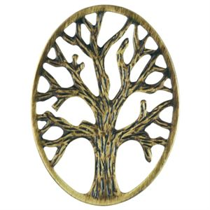 Picture of Gold Tree Of Life Oval Screen